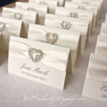 Ribbon Heart Place Card